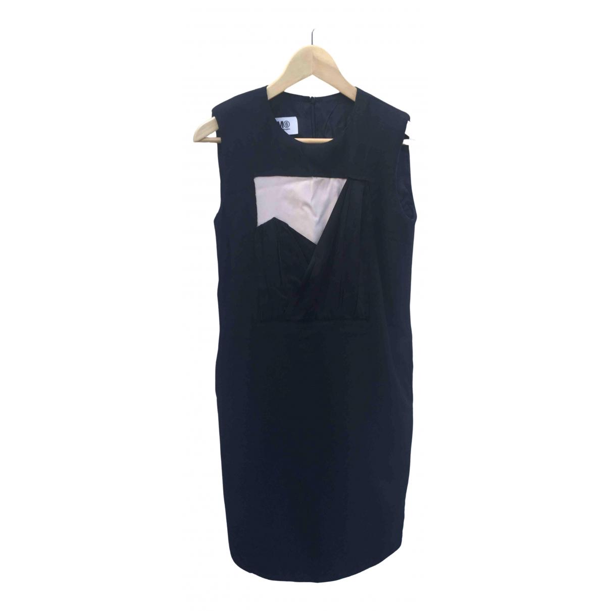 Mm6 \N Black Wool dress for Women 36 FR