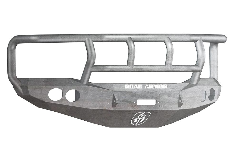 DODGE Front Winch Bumper Round Light Ports 1500 RAM 06-08 RAW Titan II Guard Road Armor 44072Z Stealth Series