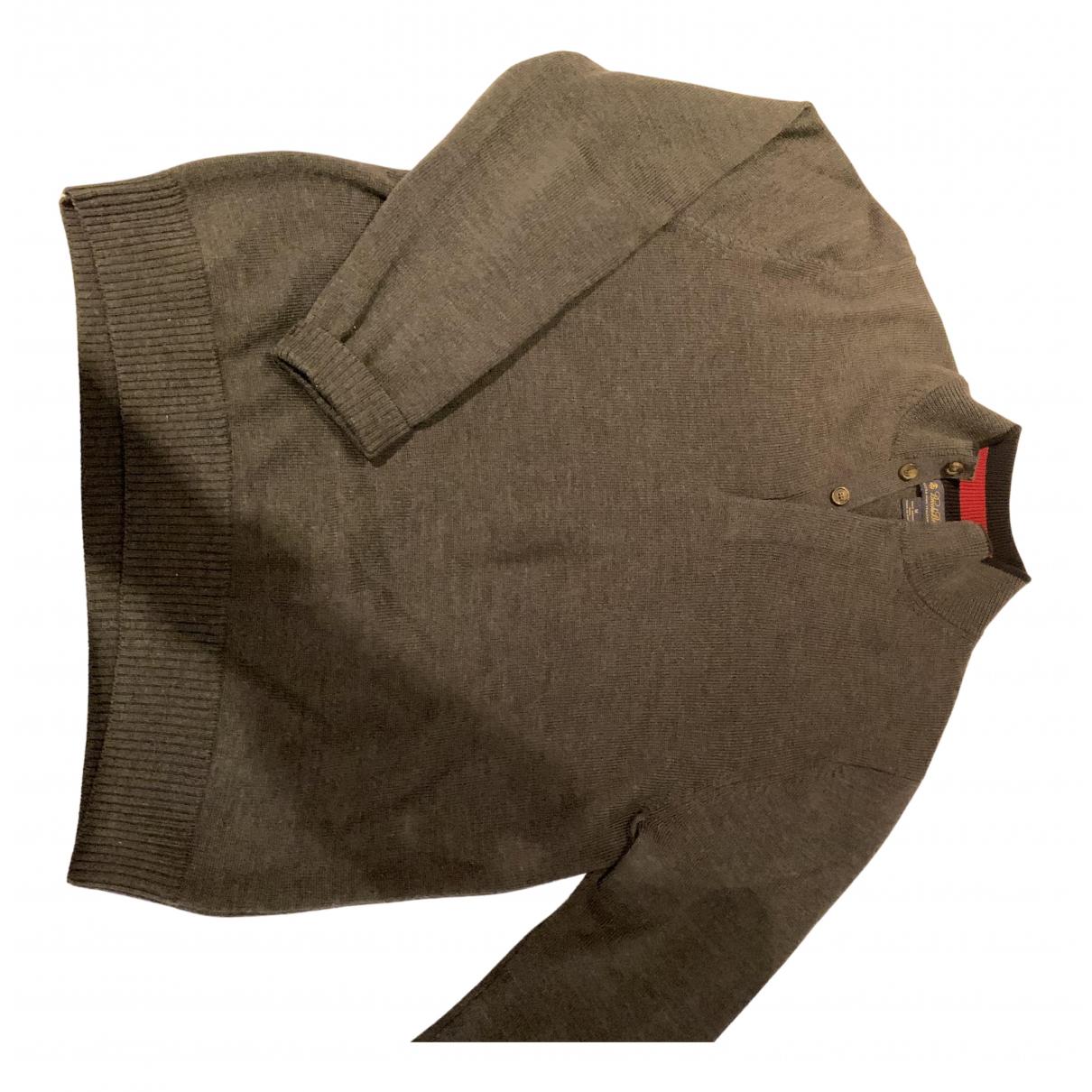Brooks Brothers \N Pullover.Westen.Sweatshirts  in  Grau Wolle