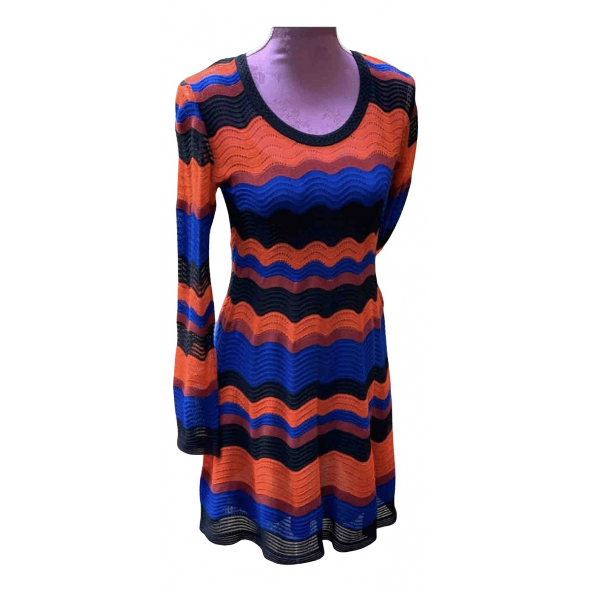 M Missoni N Red Cotton - elasthane dress for Women 40 IT