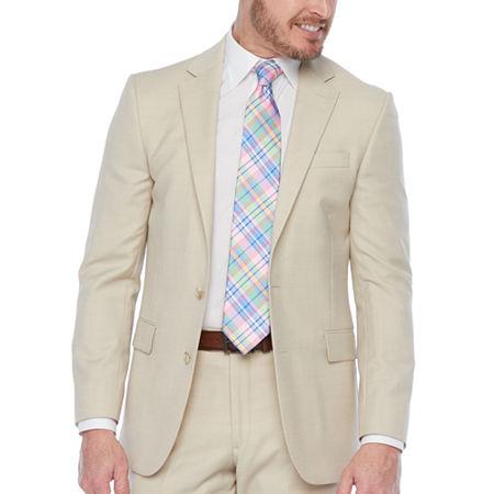 Stafford-Super Slim Fit Stretch Suit Jacket, 48 Short, Beige