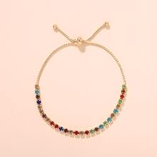 1pc Colorful Rhinestone Decor Bracelet