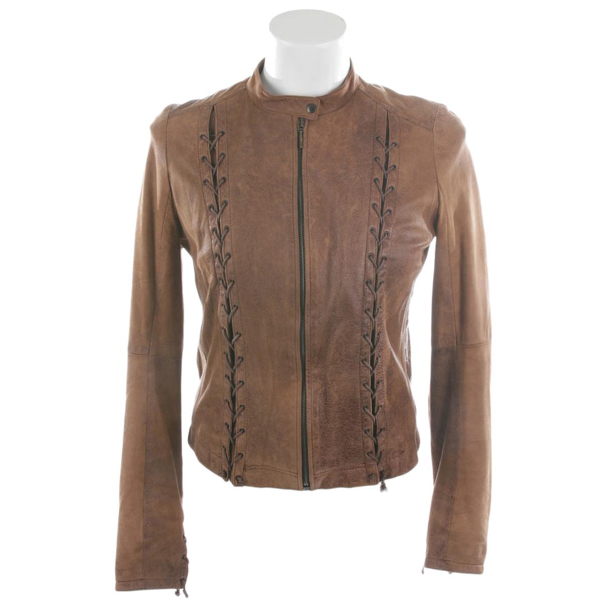 Plein Sud N Brown Leather jacket for Women 36 FR