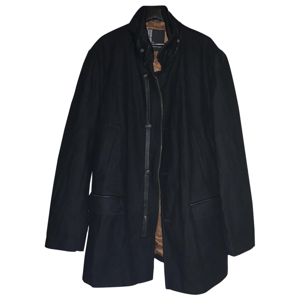 Pierre Cardin \N Maentel in  Schwarz Wolle
