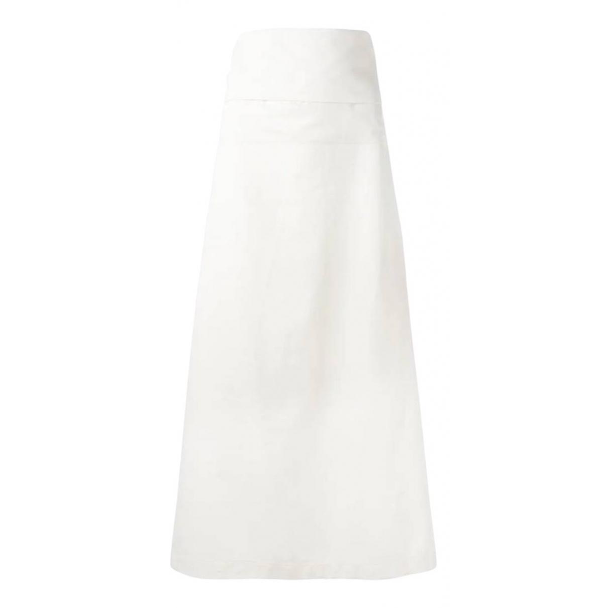 Yohji Yamamoto - Jupe   pour femme en coton - blanc