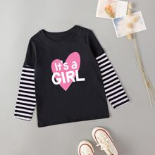 Toddler Girl 2 In 1 Slogan Graphic Tee
