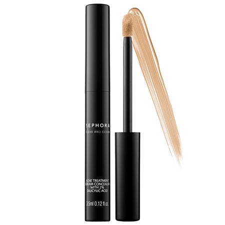SEPHORA COLLECTION Clear and Cover Acne Treatment Cream Concealer with 2% Salicylic Acid, One Size , Beige