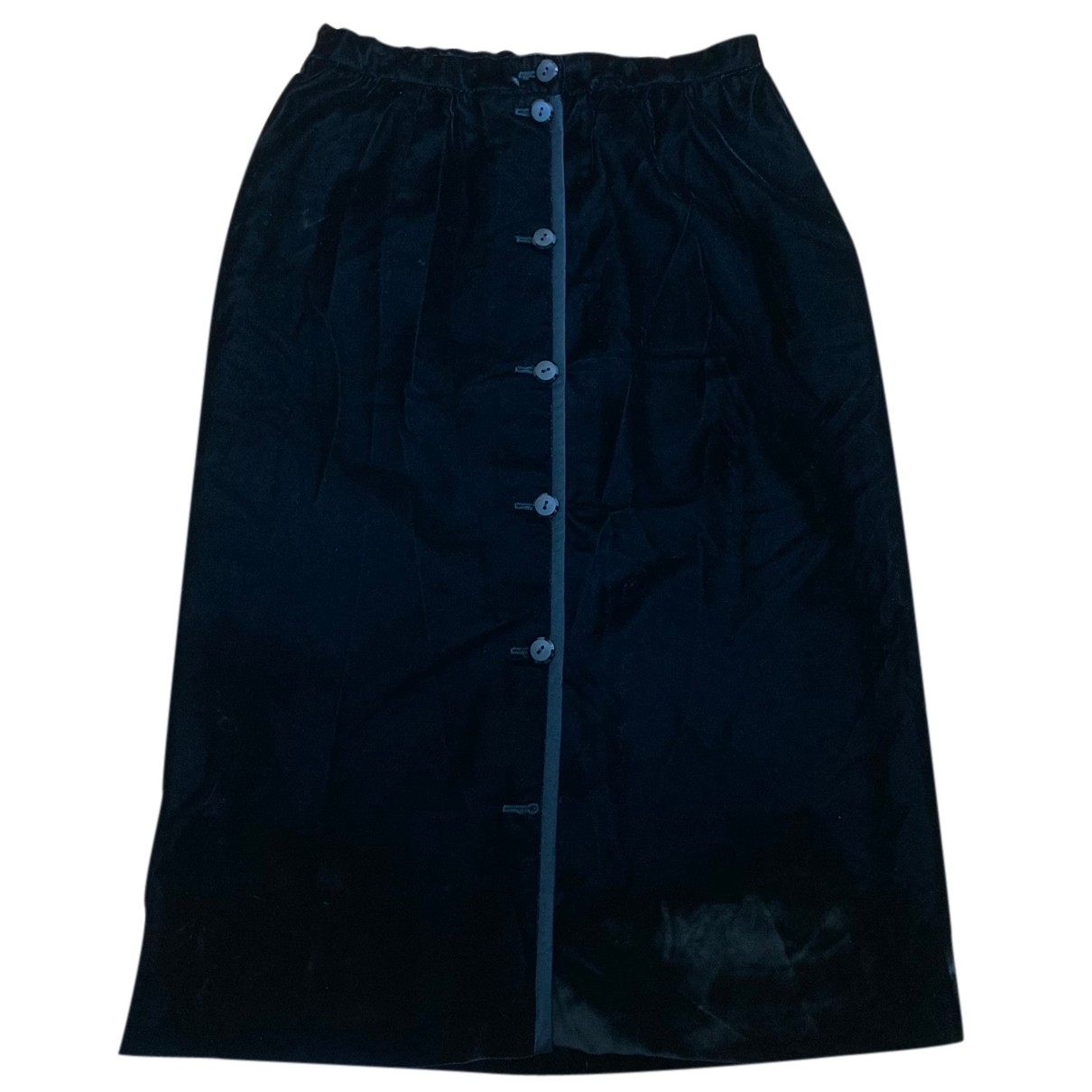 Valentino Garavani - Jupe   pour femme en velours - noir