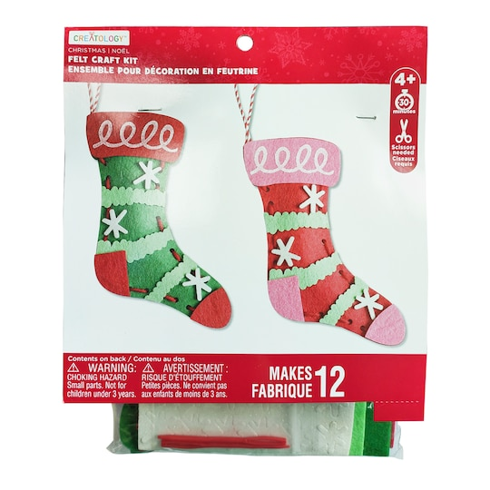 Stockings Ornament Felt Craft Kit By Creatology™ | Michaels®
