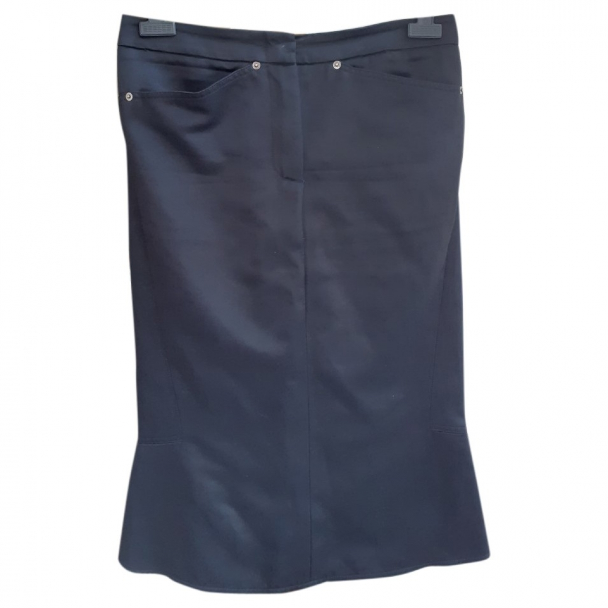 Max Mara \N Blue Cotton skirt for Women 42 IT