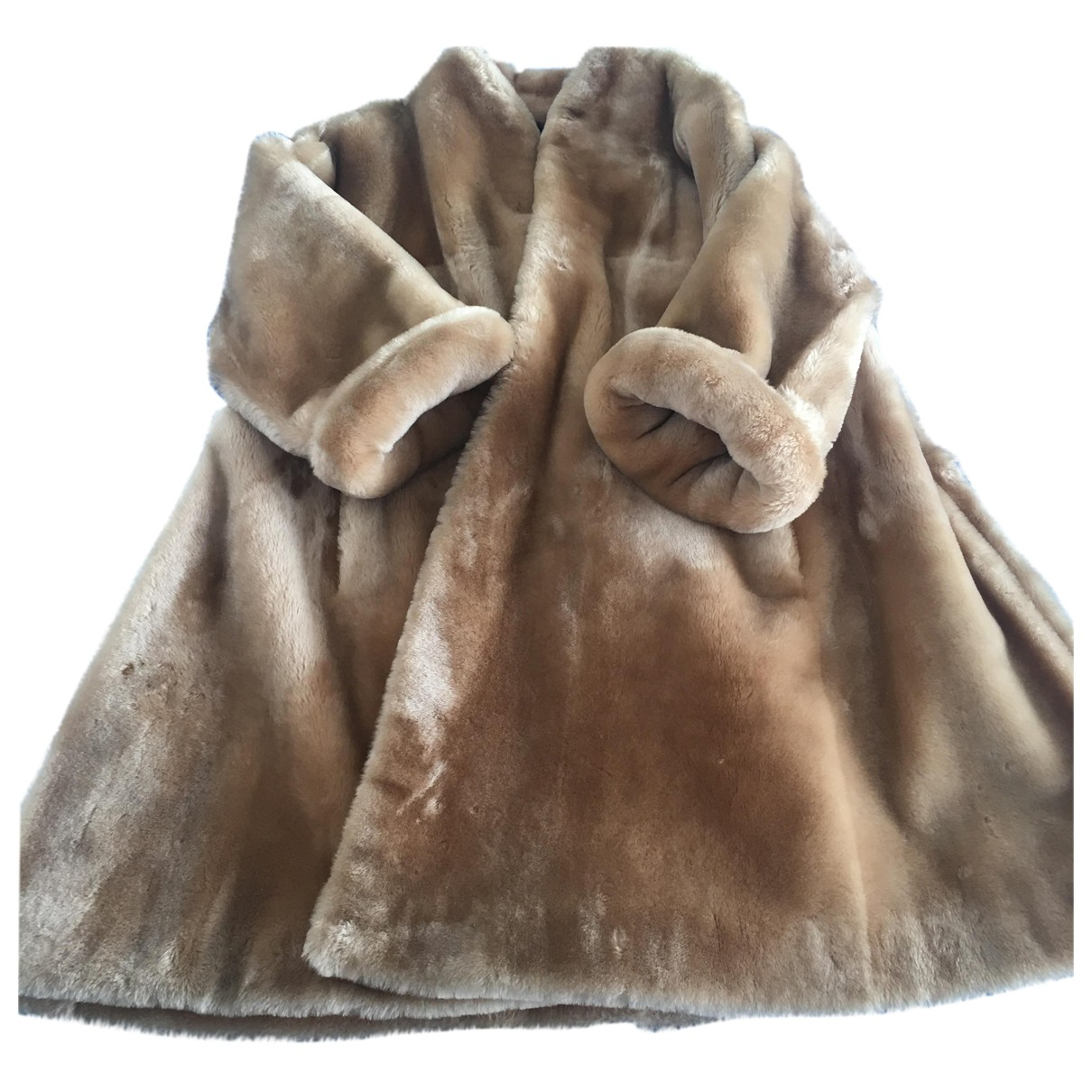 Christian Dior N Gold Shearling coat for Women 42 FR