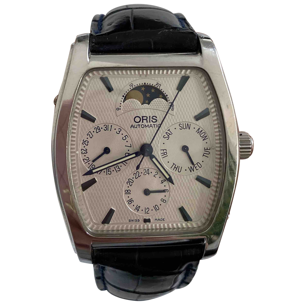 Oris Artelier Complication Uhr in  Silber Stahl
