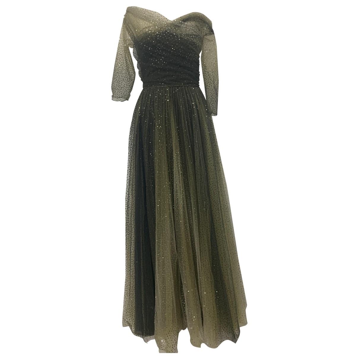 Dior \N Khaki Silk dress for Women 38 FR