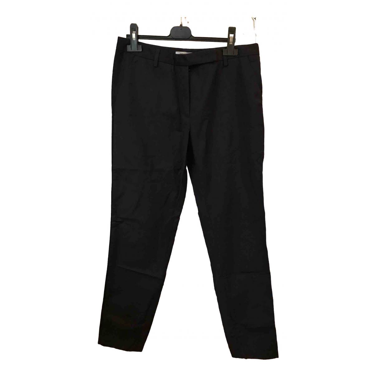 Gerard Darel \N Blue Cotton Trousers for Women 40 FR