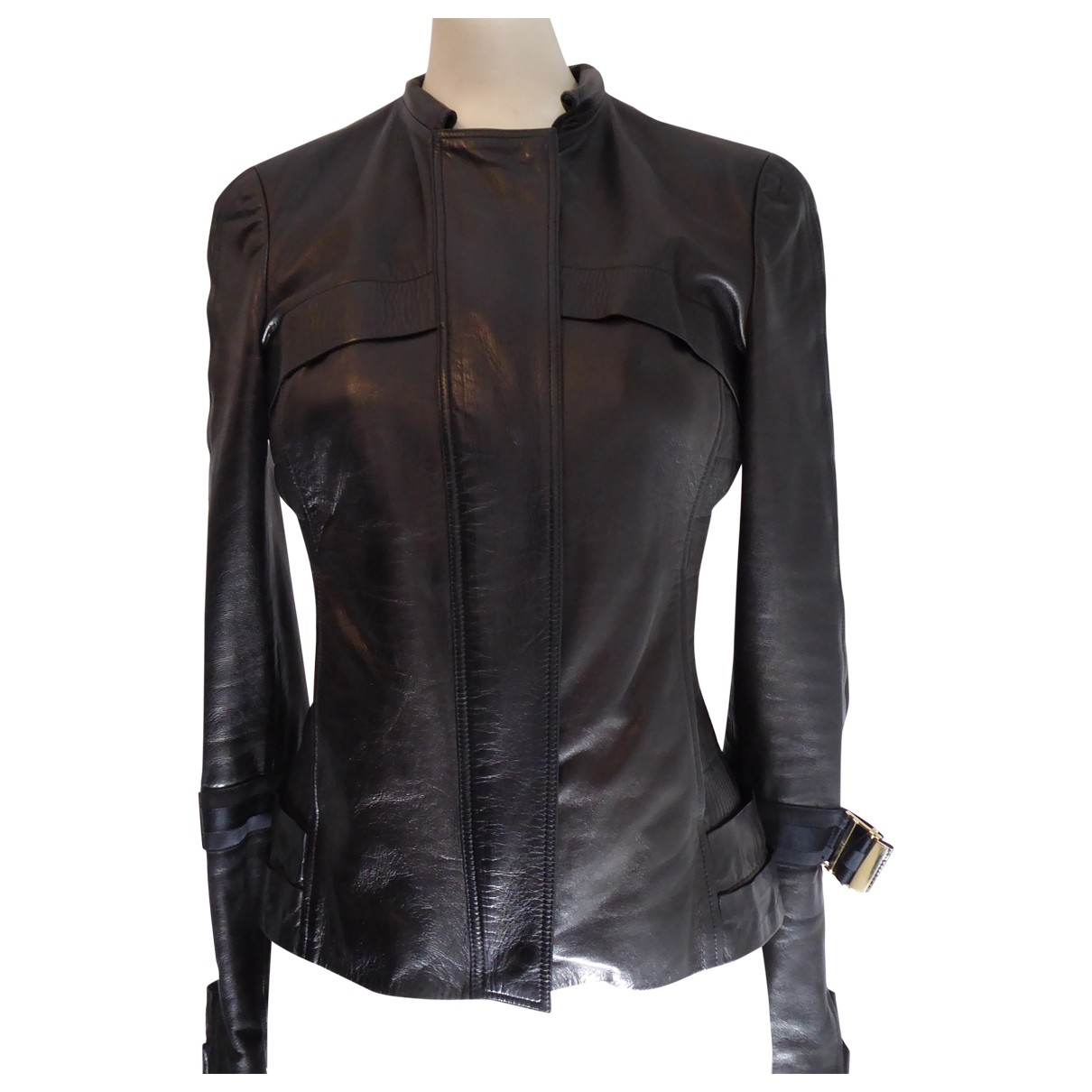 Gucci \N Black Leather Leather jacket for Women 40 IT