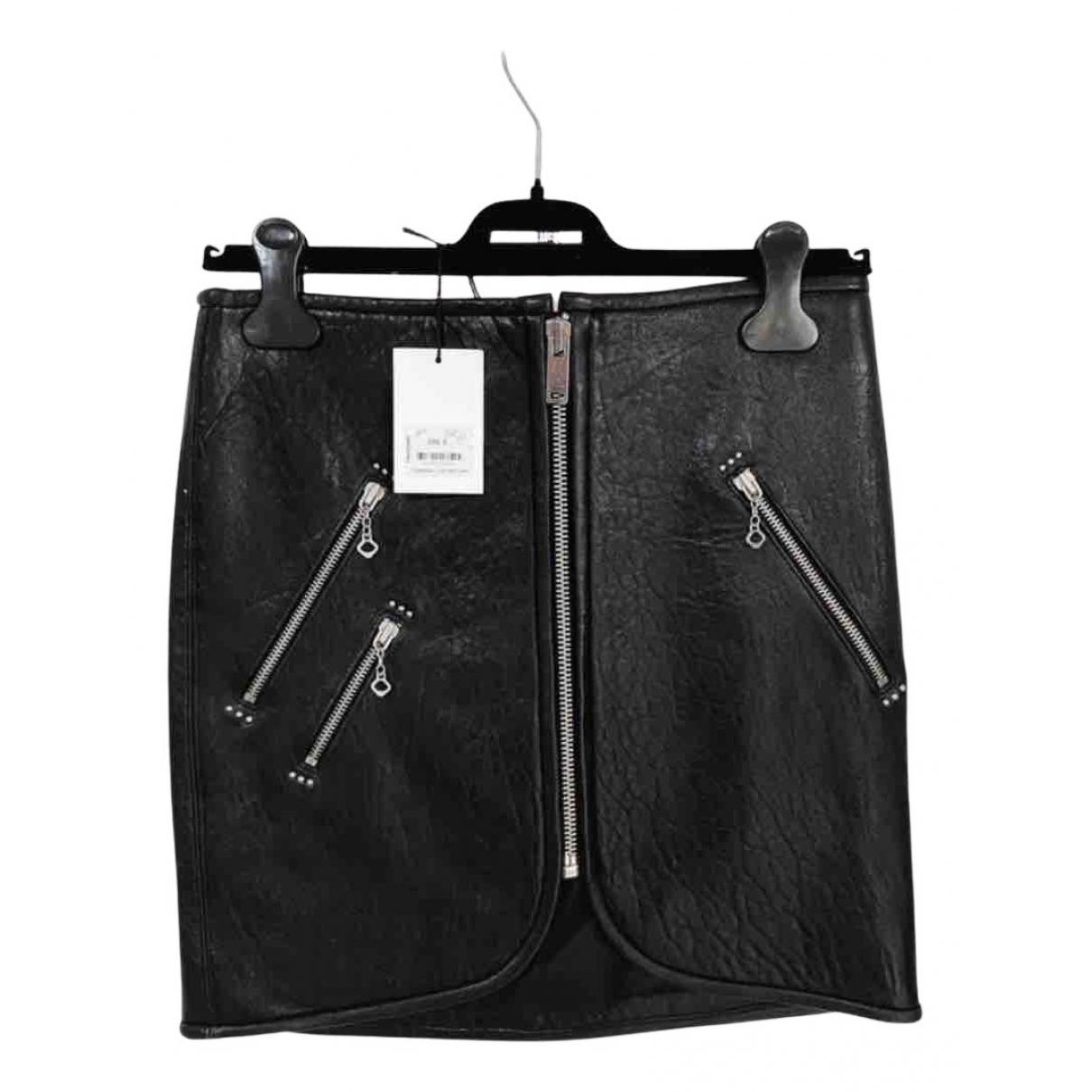 Isabel Marant - Jupe   pour femme en cuir - noir