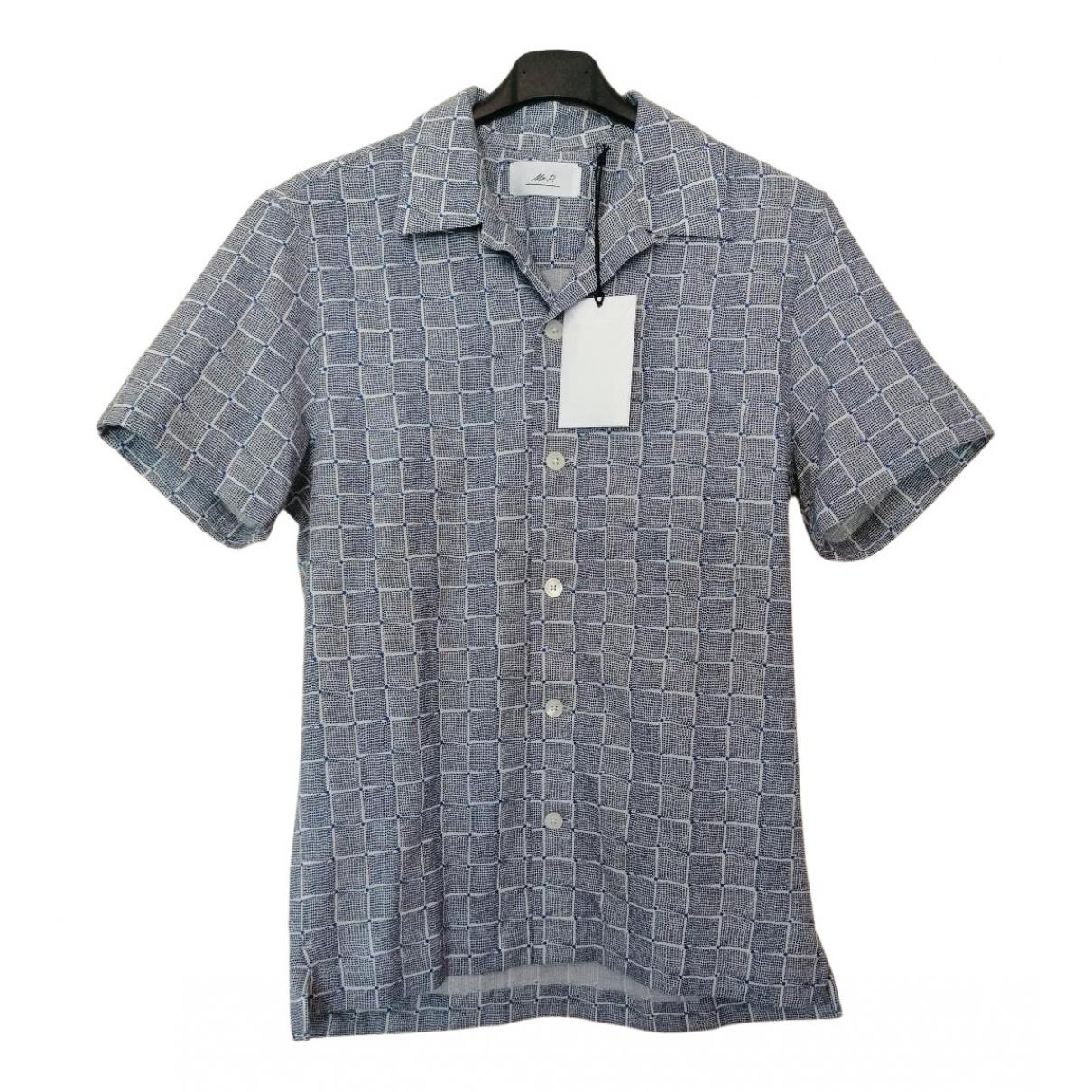 Mr P. - Chemises   pour homme en coton - bleu