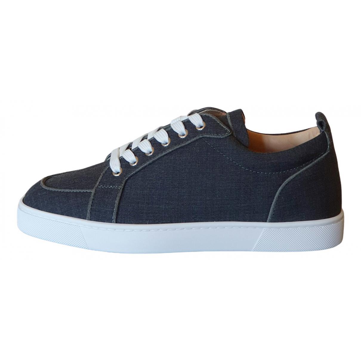 Christian Louboutin \N Sneakers in  Blau Leinen