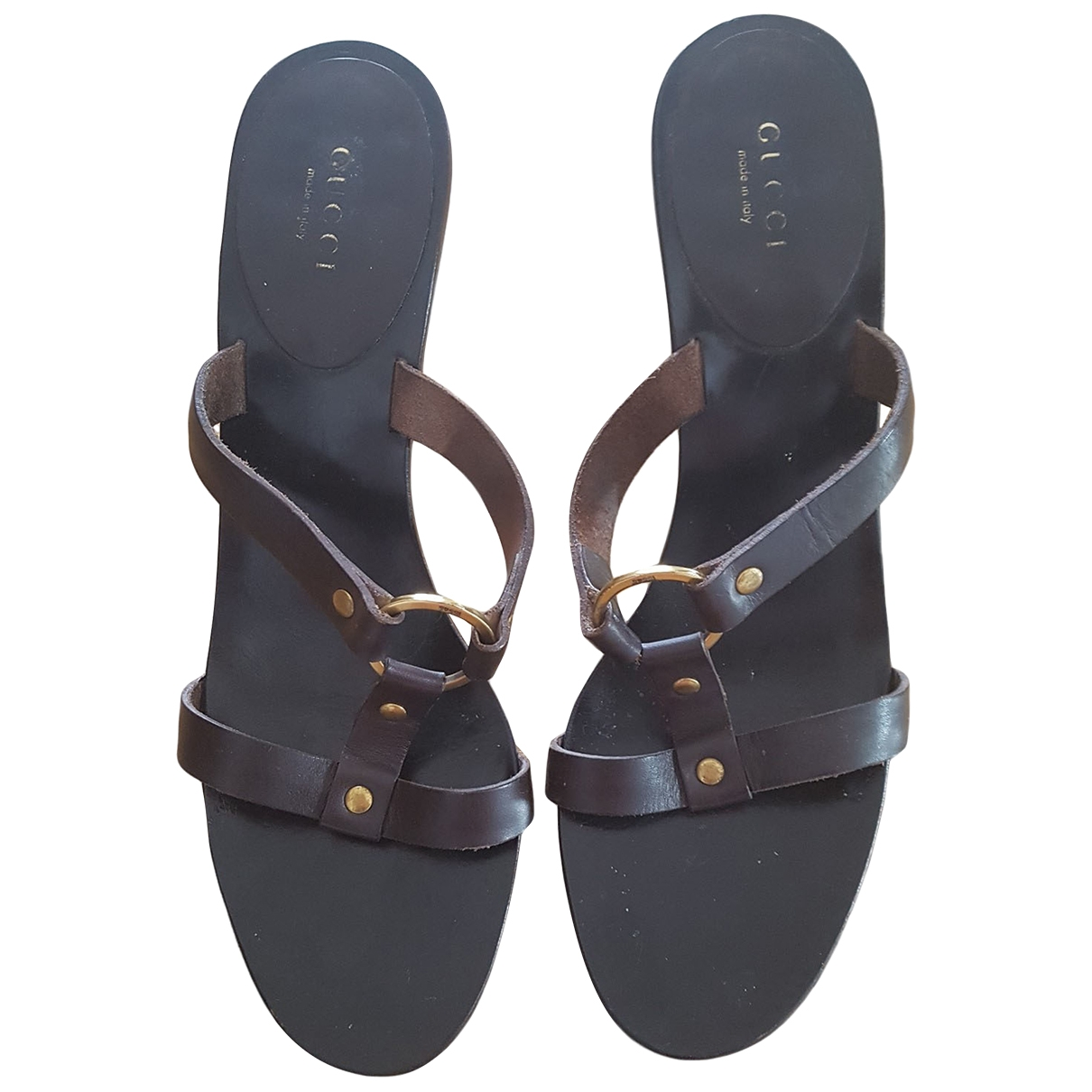Gucci \N Brown Leather Sandals for Women 39 IT