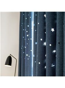 Romantic Starry Sky Curtains Space Inspired Night Sky Twinkle Star Kids Room Drapes