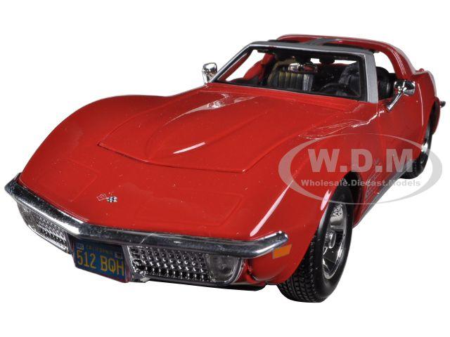 1970 Chevrolet Corvette Red 1/24 Diecast Model Car by Maisto