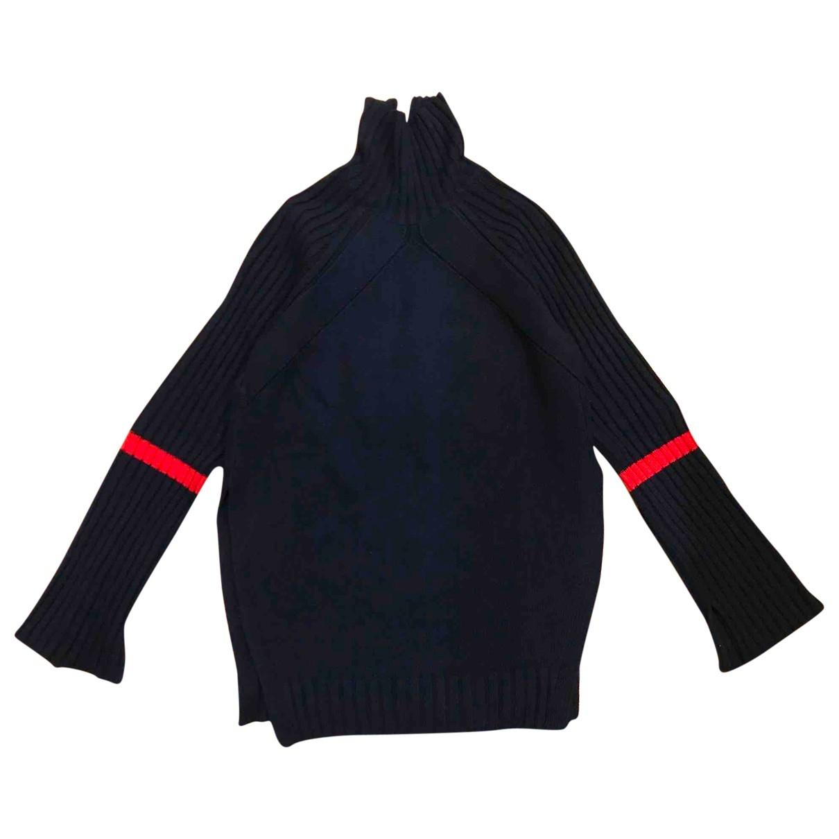 Celine \N Pullover in  Marine Wolle