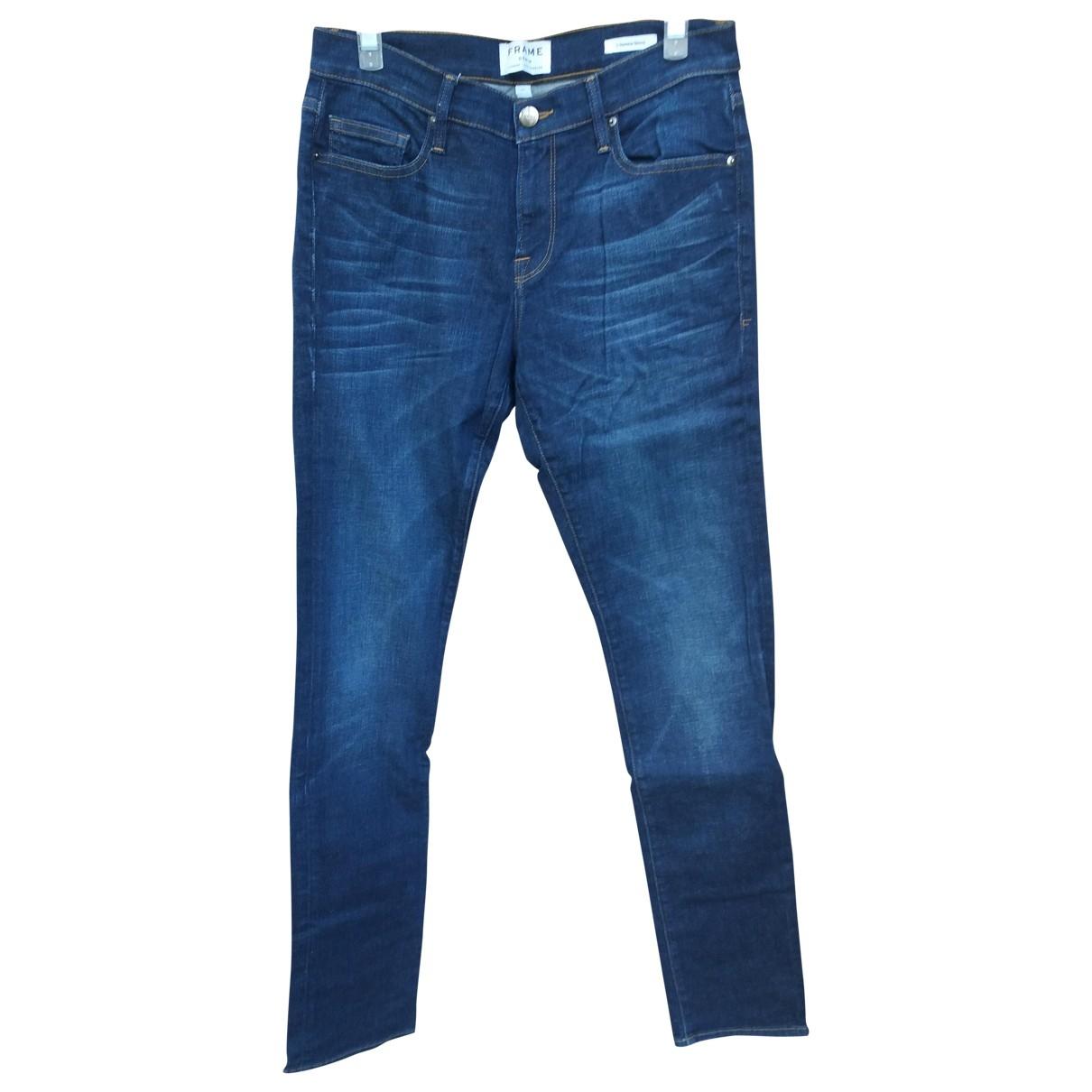 Frame Denim \N Blue Cotton - elasthane Jeans for Men 30 US