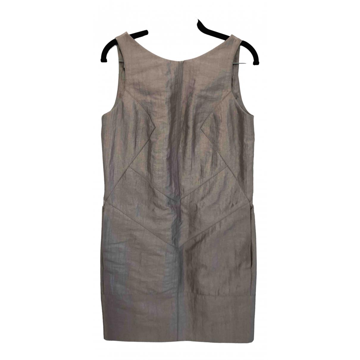 Amanda Wakeley \N Kleid in  Metallic Seide