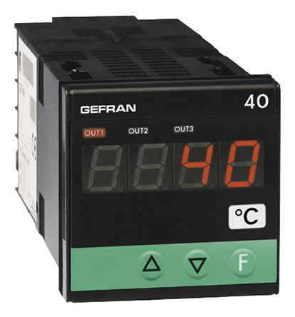 Gefran 40T48 Temperature Indicator, 48 x 48mm, 11 → 27 V ac/dc Supply