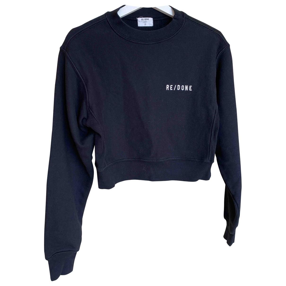 Re/done - Pull   pour femme en coton - noir