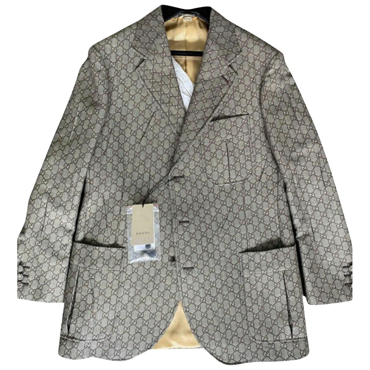 Gucci - Vestes.Blousons   pour homme en coton - multicolore