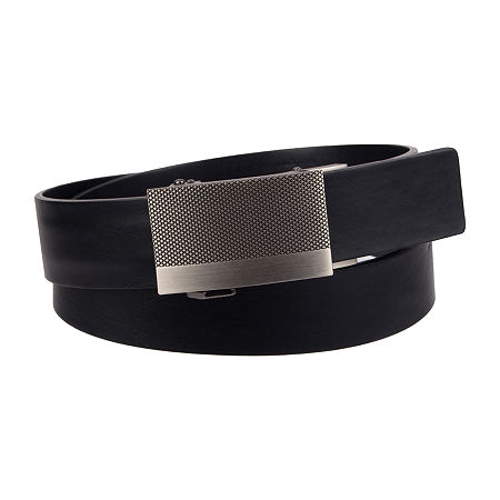 JF J.Ferrar Track Lock Men's Belt with Plaque Buckle, X-large , Black