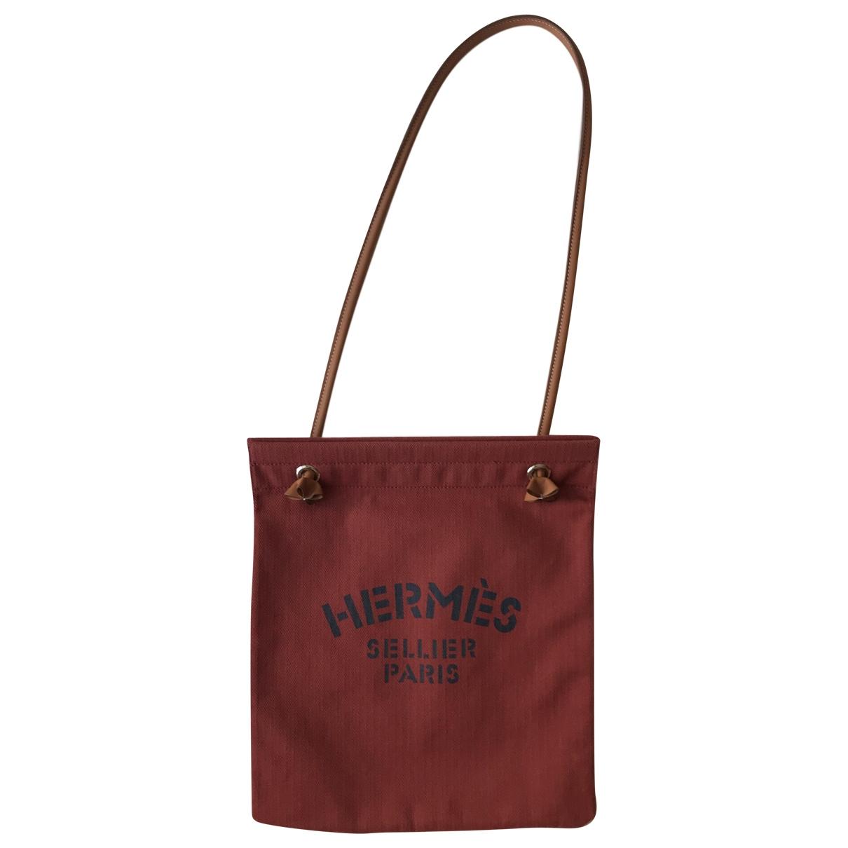 Hermès Aline Red Cotton handbag for Women \N