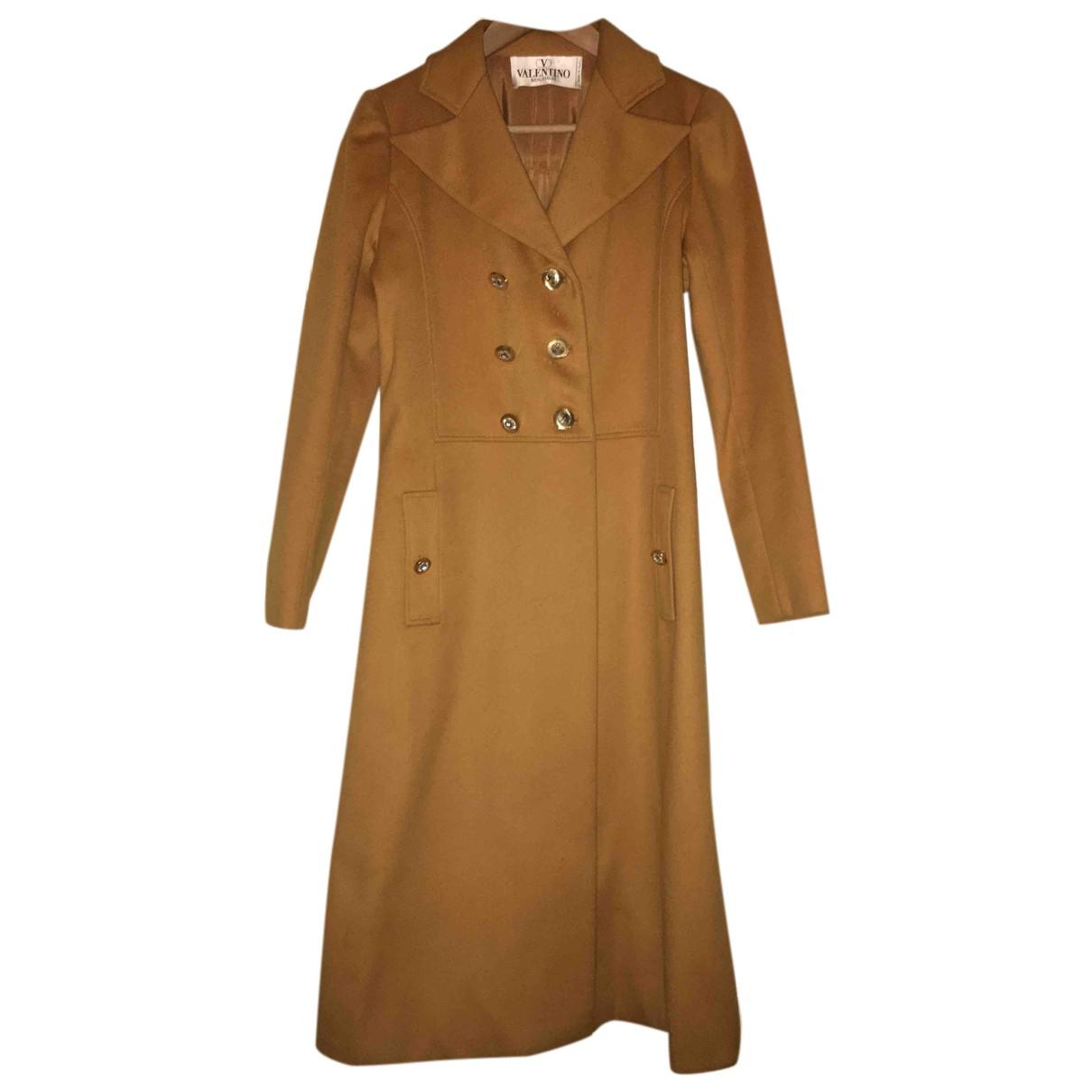 Valentino Garavani - Manteau   pour femme en laine - jaune
