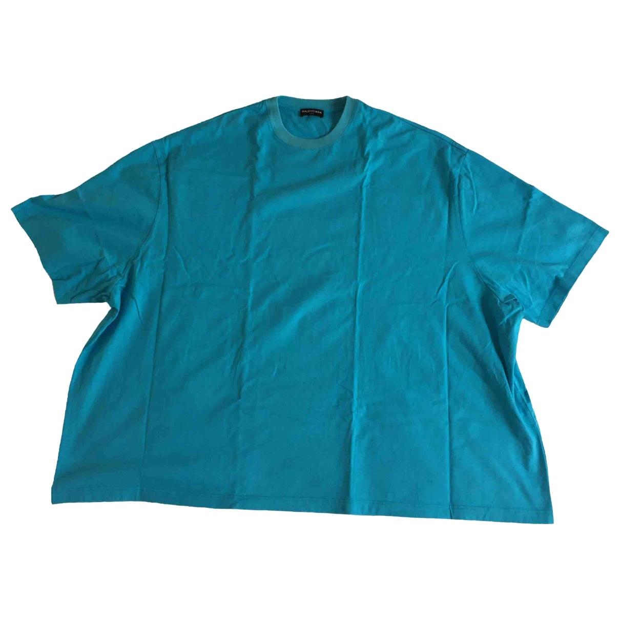 Balenciaga - Tee shirts   pour homme en coton - bleu