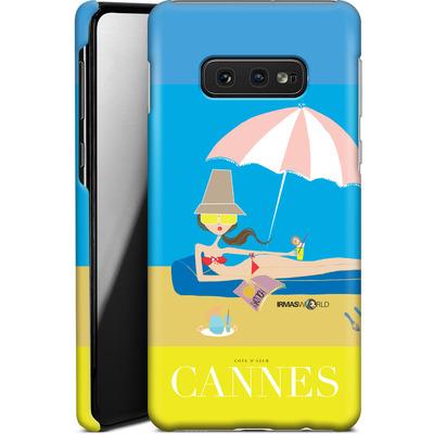 Samsung Galaxy S10e Smartphone Huelle - CANNES TRAVEL POSTER von IRMA
