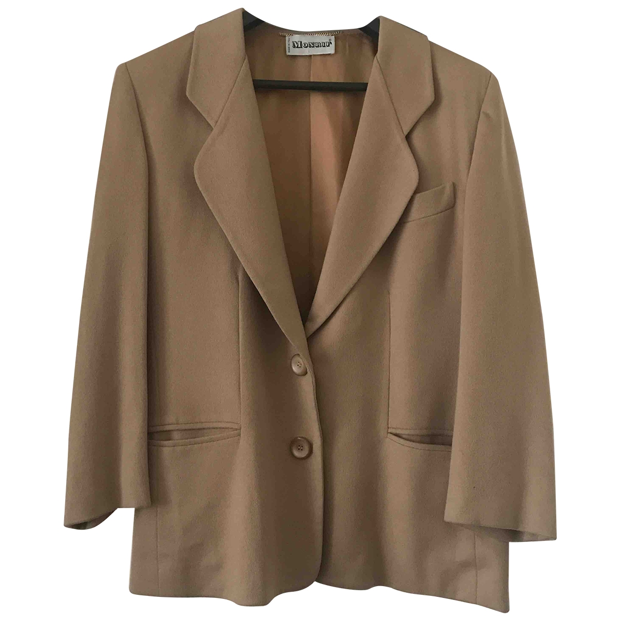 Non Signé / Unsigned \N Camel Cashmere jacket for Women 46 IT
