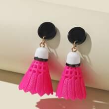 Badminton Charm Drop Earrings