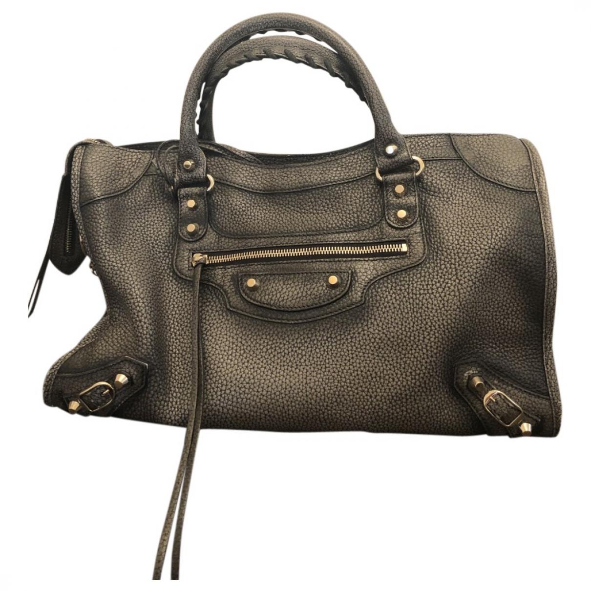 Balenciaga City Handtasche in  Grau Leder