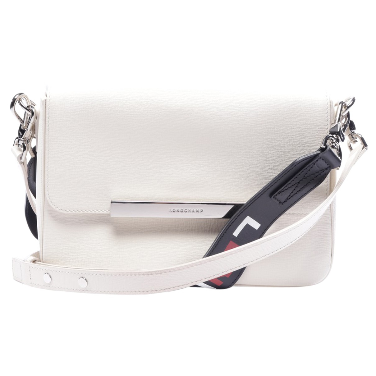 Longchamp N White Leather handbag for Women N