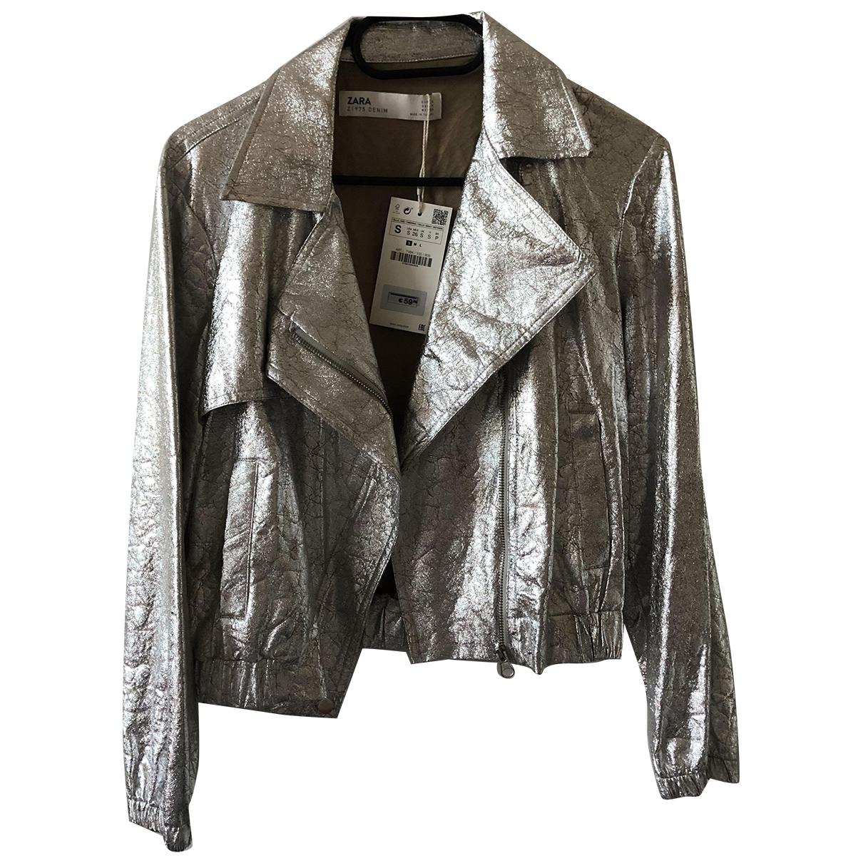 Zara \N Jacke in  Metallic Polyester