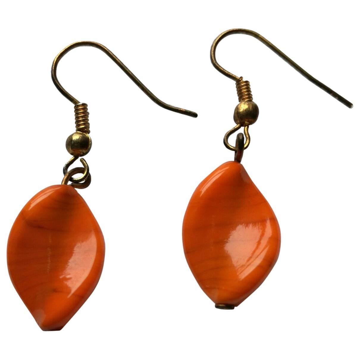 - Boucles doreilles Motifs Ethniques pour femme - orange
