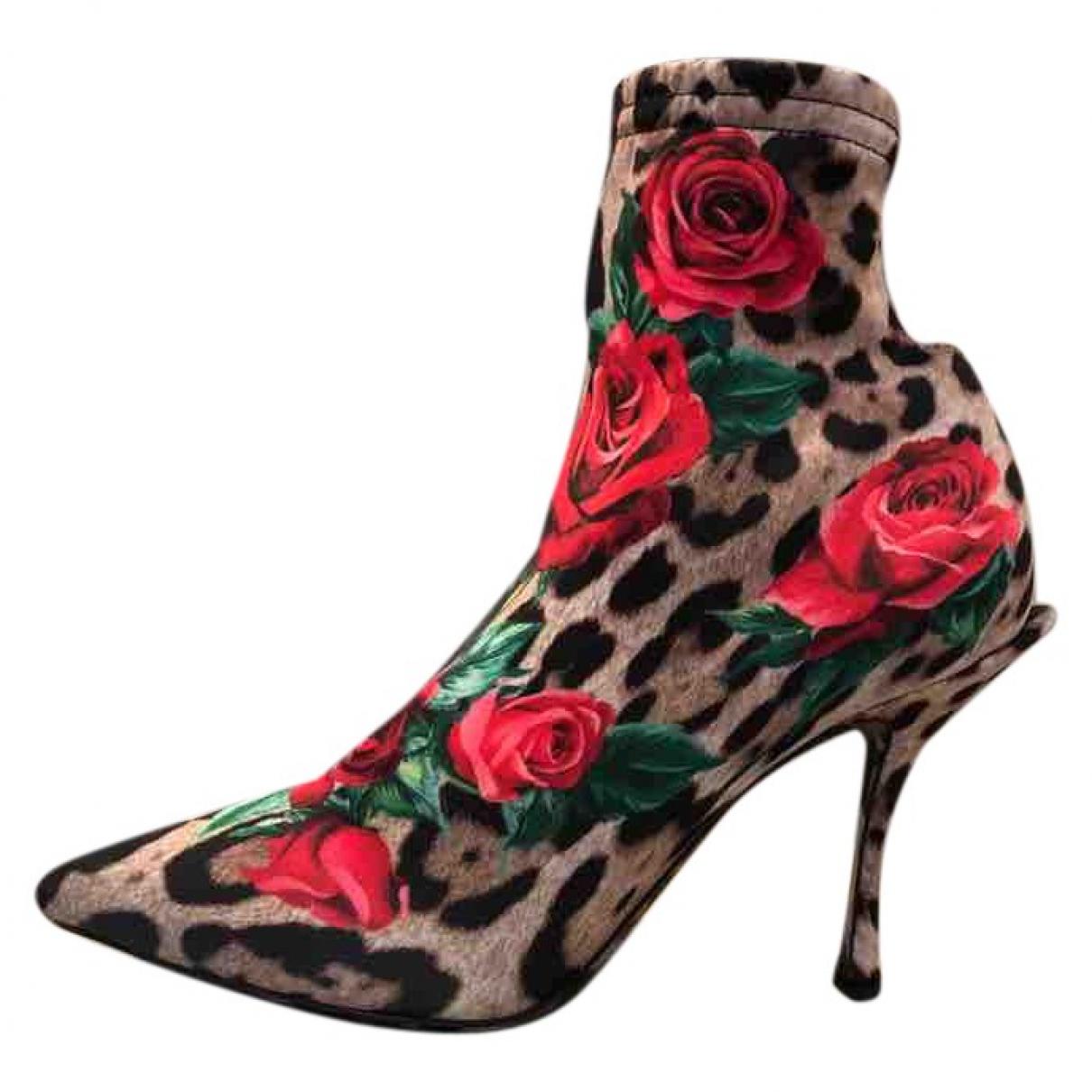 Dolce & Gabbana - Boots   pour femme en toile - multicolore