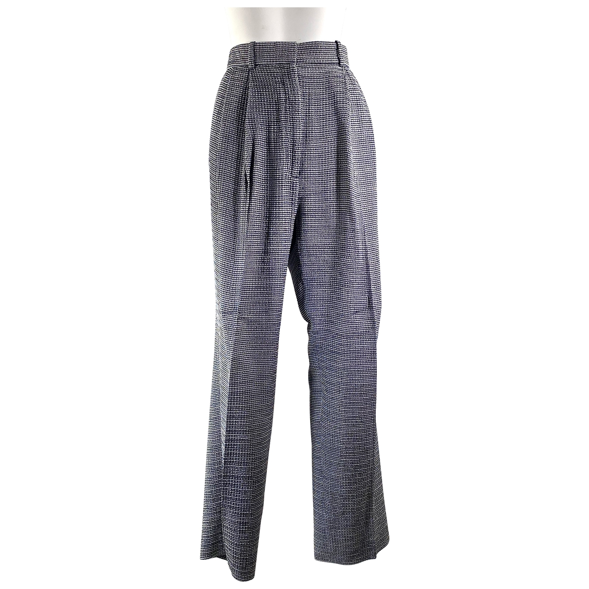 Celine \N Grey Silk Trousers for Women 40 FR