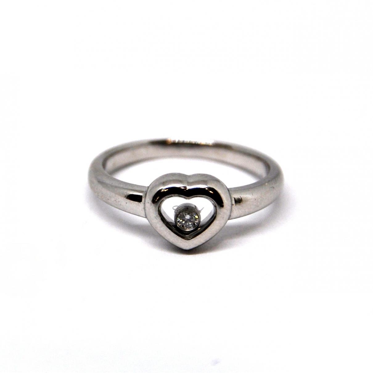 Chopard - Bague Happy Diamonds pour femme en or blanc
