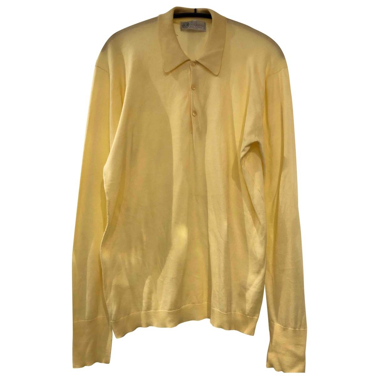 John Smedley \N Pullover.Westen.Sweatshirts  in  Gelb Baumwolle