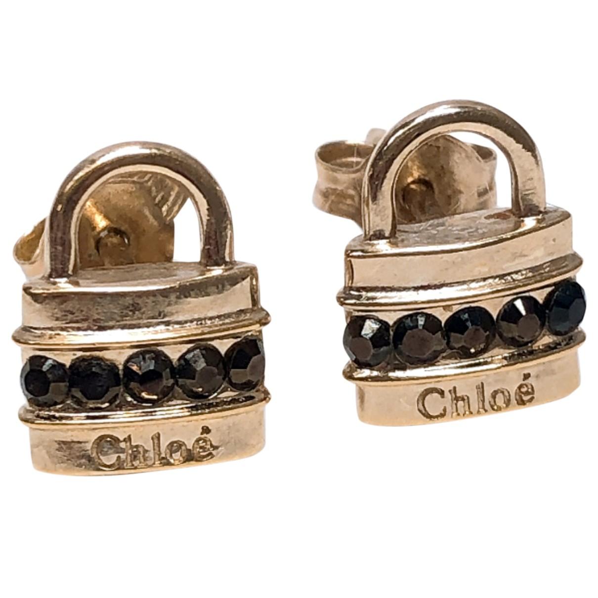 Chloe - Boucles d'oreilles   pour femme en metal - dore