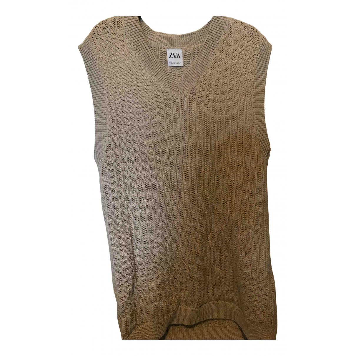 Zara \N Pullover.Westen.Sweatshirts  in  Beige Baumwolle