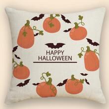 Kissenbezug mit Halloween Kuerbis Muster ohne Fuelle