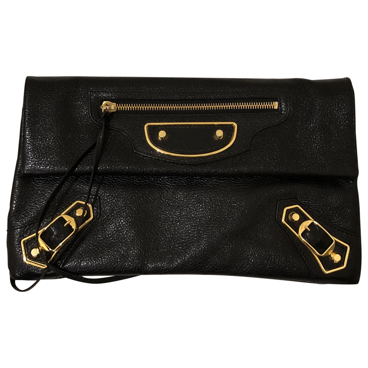 Balenciaga Envelop Black Leather Clutch bag for Women \N